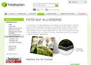 Fotokasten Aluminium Foto bestellen